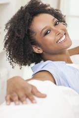 Relaxing Mixed Race African American Girl Young Woman