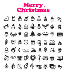 Merry Christmas icons. Vector format