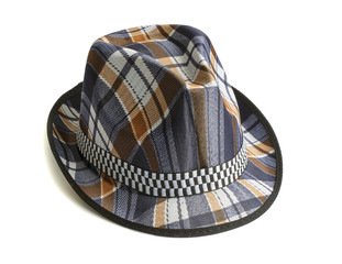 Men's hat in blue cage