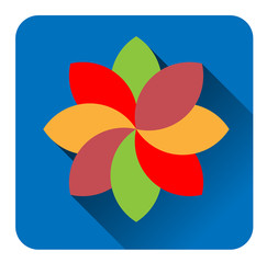 Colorful  flower flat icon