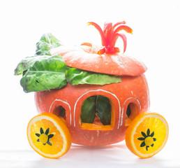 pumpkin carriage creative for Halloween