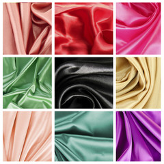 Beautiful silk drape collage
