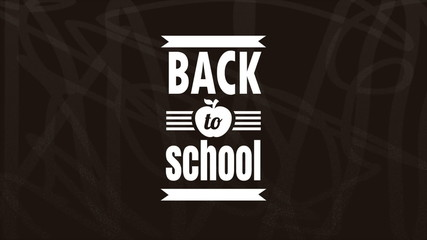 Back to school design, Animation HD 1080