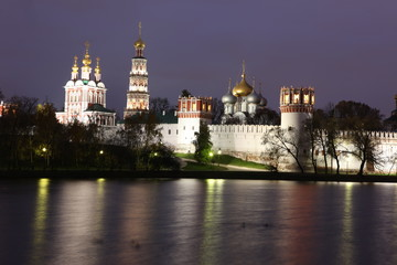 Russian orthodox churches in Novodevichy monastery, Moscow