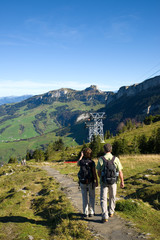 Wanderer im Alpstein - Schweiz - Alpen
