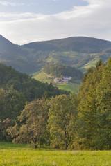 Slovenia mountain range landscape