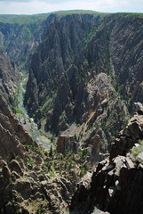 Black canyon of the Gunnison National Park, North Rim, CO, USA