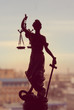 Themis or Lady Justice standing on window - 71966551