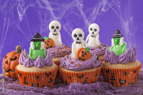 canvas print picture Halloween cupcakes