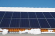 Solar roof in winter
