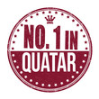 Number one in Quatar stamp