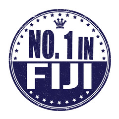 Number one in Fiji stamp