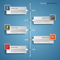 Time line info graphic colored element template
