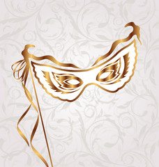 Venetian carnival or theater mask