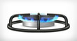 Kitchen gas stove, vector object - 71968127