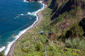 Seilbahn Rocha do Navio in Santana