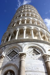 Pisa Leaning tower, architectural detail