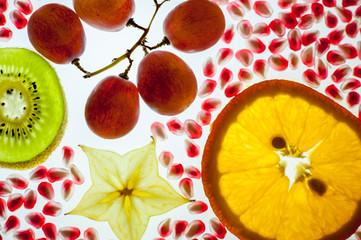 Tropical fruit arrangement