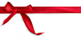 Fototapety Red ribbon on white background