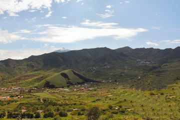 Tenerife, volcan de la valée de Santiago