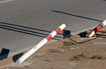 pole knocked down