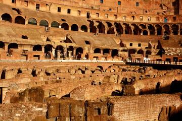 Roman Colosseum interior.