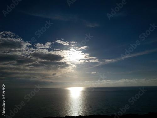 canvas print picture Wolken und Sonne