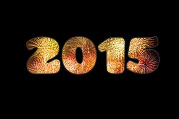 Año 2015 fondo negro