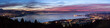 Leinwanddruck Bild - Nächtliches Bodenseepanorama