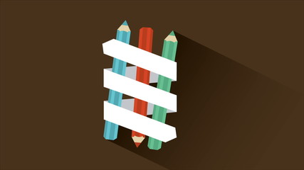 Pen with ribbon, Animation Design, HD 1080