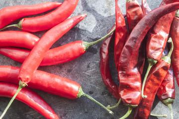 Fresh and dry chili