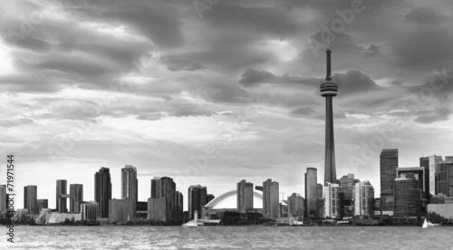 Foto op Aluminium Toronto Toronto Skyline in Black and White