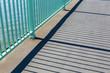 canvas print picture - pattern of cologne Bridge with shadow from reling