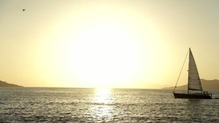 Çalış'ta gün batımı