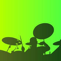 Drummer background