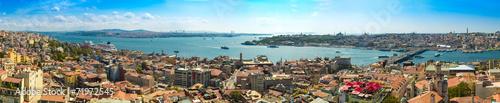 Fotobehang Turkey Istanbul panoramic view from Galata tower. Turkey