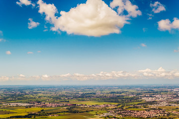 Landscape of the Po valley in Italy