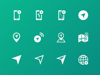 Navigator icons on green background.