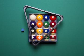 billiard balls in a box and triangle