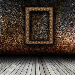 Empty interior with empty frame