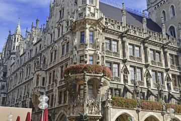 Marienplatz in the city center, Munich, Germany