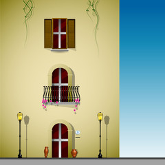 palazzo, casa, villa, mediterraneo