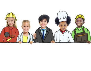 Children with Professional Occupation Concepts