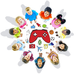 Group of Children and Play Concepts