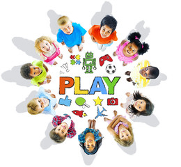 Children Forming a Circle with Play Concepts