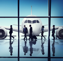 Business People Corporate Travel Airport
