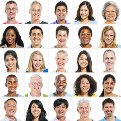 Large Group of Multi Ethnic Group