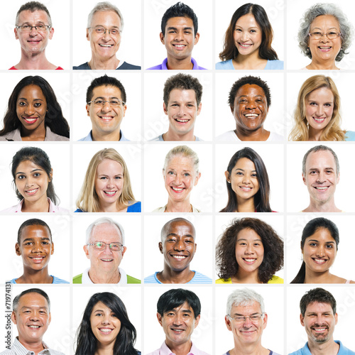canvas print picture Large Group of Multi Ethnic Group