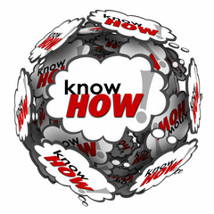 Knowhow Word 3d Thought Clouds Bubbles Learn Skills Information
