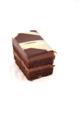 piece of delicious chocolate layer cake